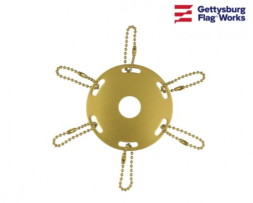 Metal Award Ribbon Pole Ring