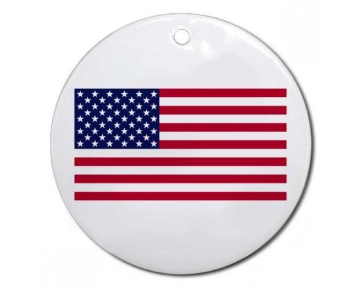 Christmas Ornament American Flag