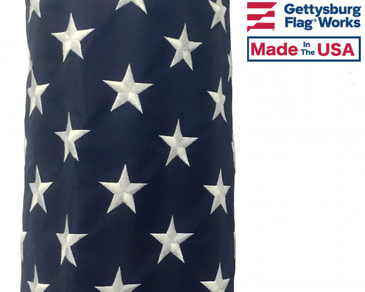 American Flag Windsock Embroidered Stars