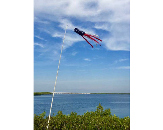 American Flag Windsock at the ocean