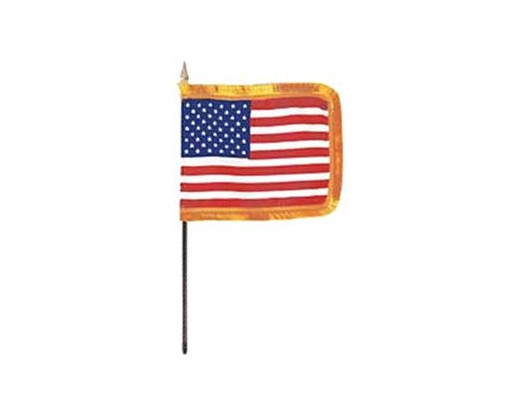"American Classroom Flag 4x6"" with fringe"