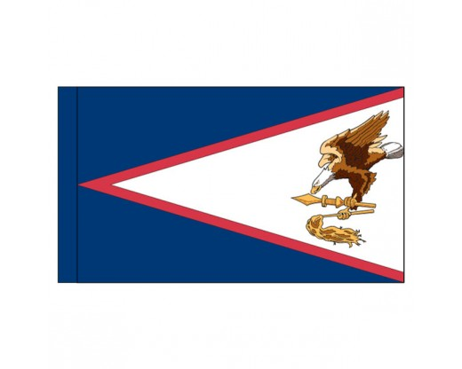 "American Samoa Flag, Nylon, 3"" Pole Sleeve - 4x6'"