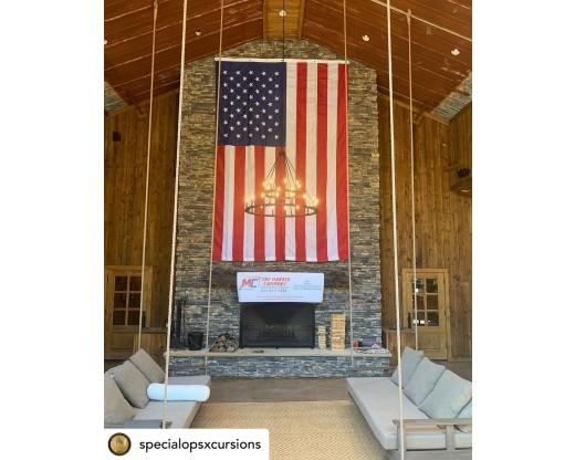 all weather nylon american flag 10x15