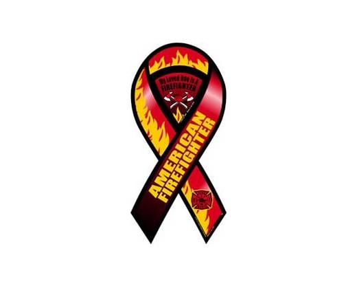 American Firefighter Ribbon Magnet