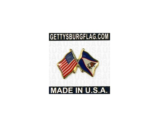 American Samoa Lapel Pin (with US Flag)