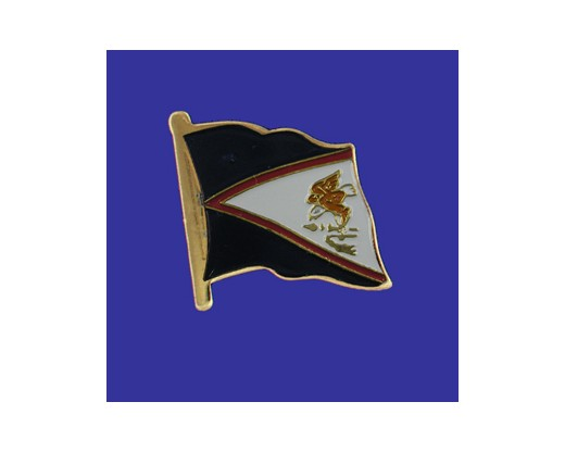 American Samoa Lapel Pin (Single Waving Flag)