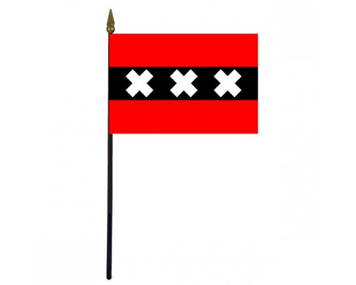 Amsterdam Stick Flag (Holland) - 4x6""