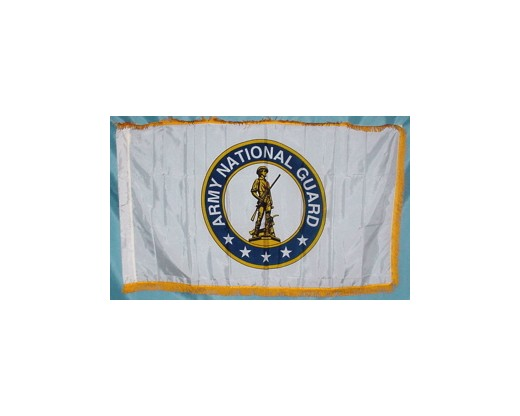 Army National Guard Flag, Pole Sleeve & Fringe - 3x5'