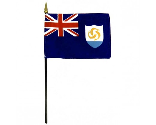 Anguilla Stick Flag - 4x6""