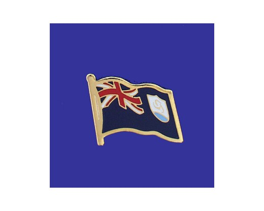 Anguilla Lapel Pin (Single Waving Flag)