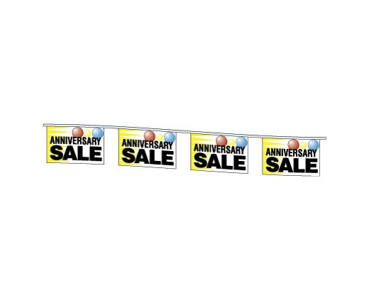 Anniversary Sale Rectangle Pennants