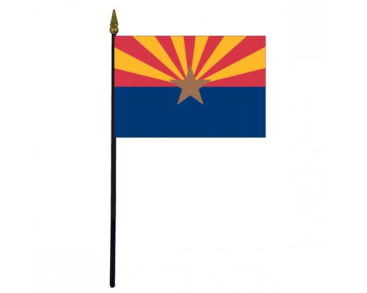 Arizona State Stick Flag - 4x6""