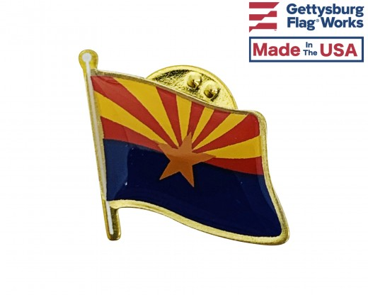 Arizona State Flag Lapel Pin (Single Waving Flag)