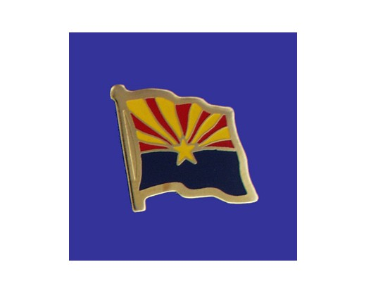 Arizona State Flag Lapel Pin (Single Waving Flag) (Imported - Close Out)
