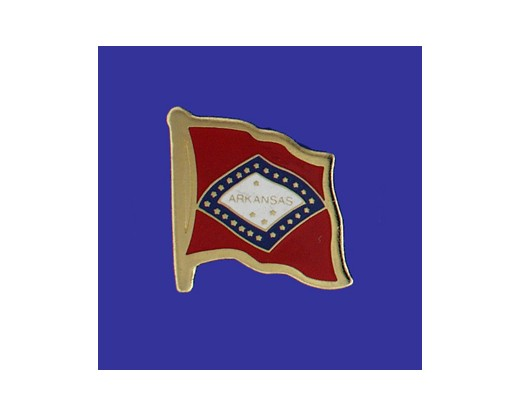 Arkansas State Flag Lapel Pin (Single Waving Flag) (Imported - Close Out)