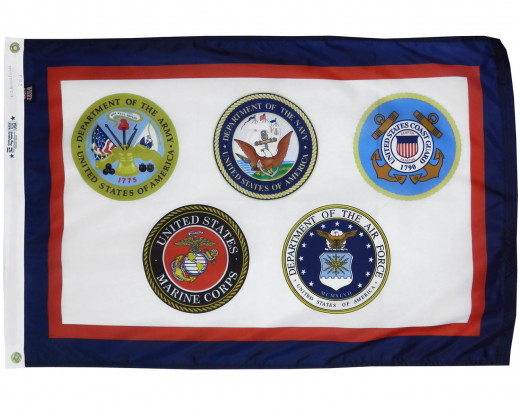 US Armed Forces Flag Photo