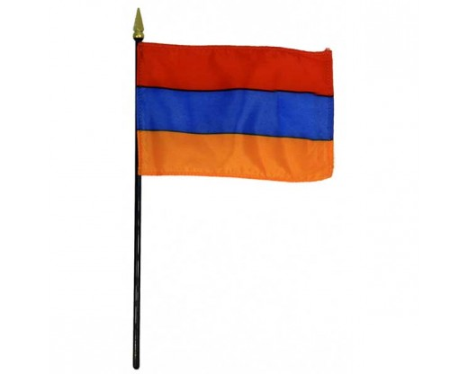 Armenia Stick Flag - 4x6""