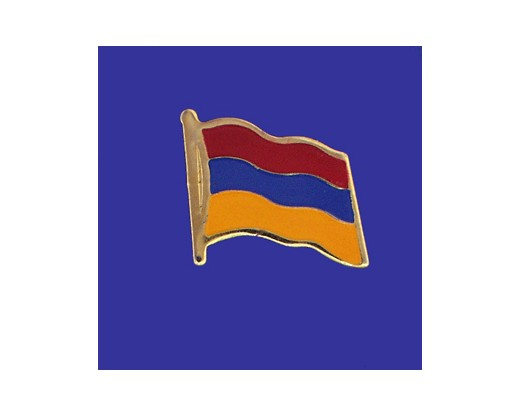 Armenia Lapel Pin (Single Waving Flag)
