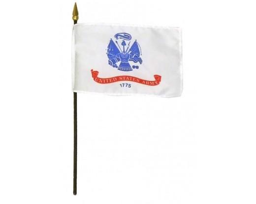 """Army Stick Flag - 8x12"""""""