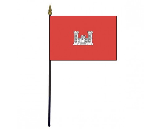 "Army Engineer Stick Flag - 4x6"""