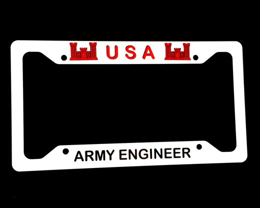 Army Engineer License Plate Frame Photo