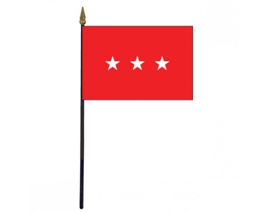 "Army Lieutenant General Stick Flag - 4x6"""