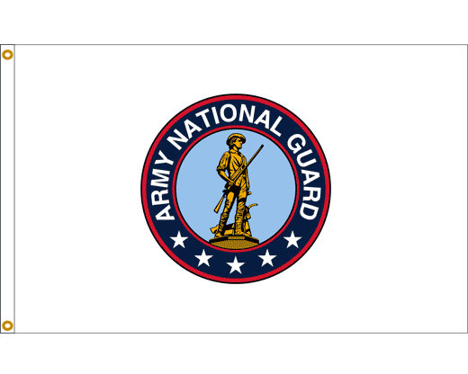 Army National Guard Flag - 3x5' - Red Border