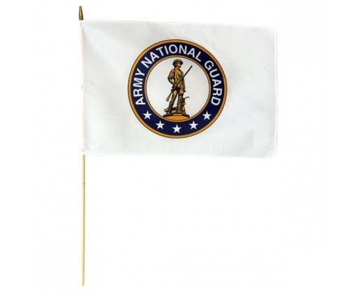 Army National Guard Stick Flag - 12x18""