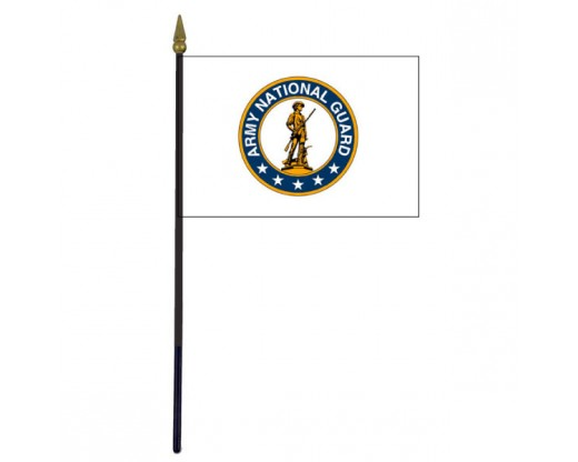 Army National Guard Stick Flag - 4x6""