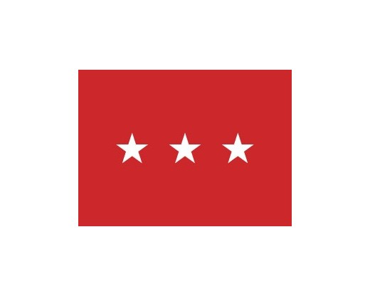 Army Lieutenant (3 Star) General - Indoor Army Officer Flags