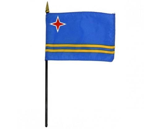 "Aruba Stick Flag - 4x6"""
