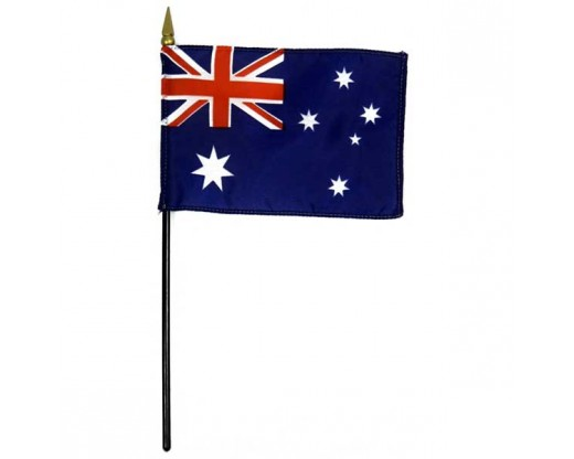 """Australia Stick Flag - 8x12"""""""