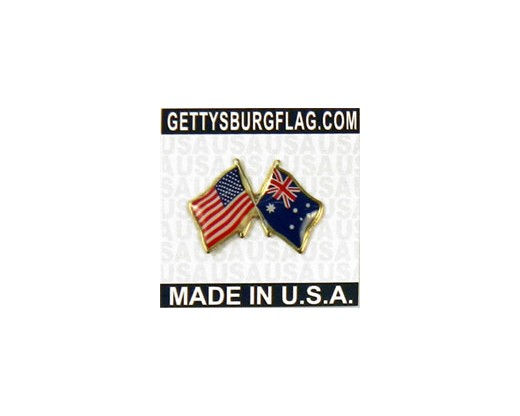 Australia Lapel Pin (with US Flag)