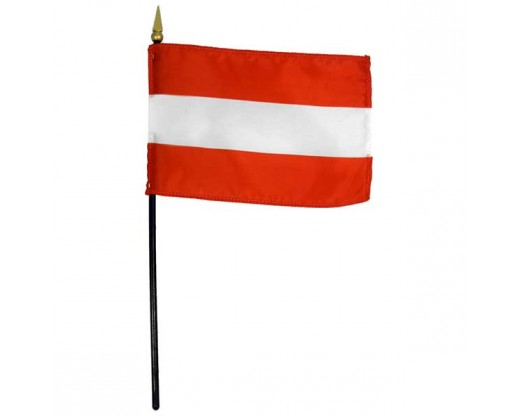 Austria Stick Flag (No Eagle)