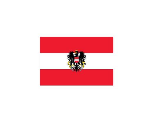 Austria Flag (With Eagle)