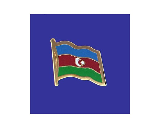 Azerbaijan Lapel Pin (Single Waving Flag)