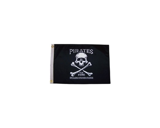 Pirate for Hire Flag