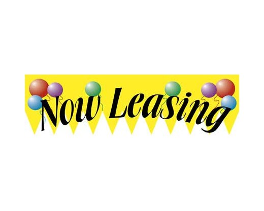 Now Leasing Banner - Balloons