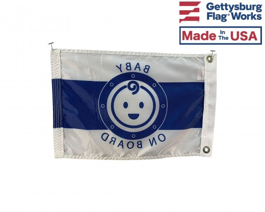 Baby on Board boat flag back