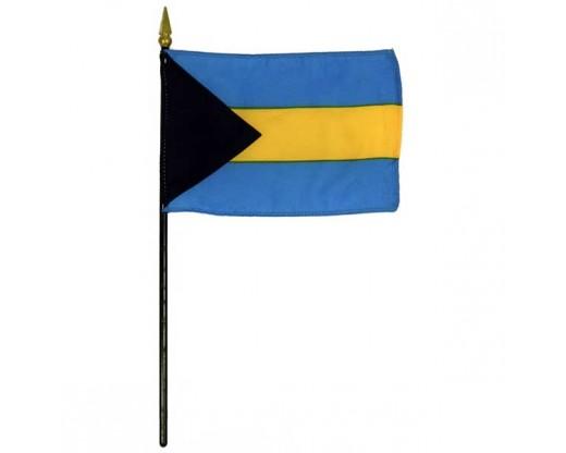 """Bahamas Stick Flag - 4x6"""""""