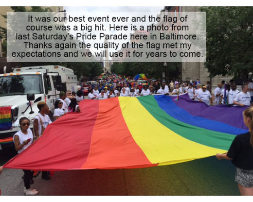20x30' Baltimore Pride flag