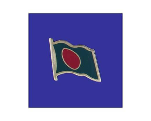 Bangladesh Lapel Pin (Single Waving Flag)