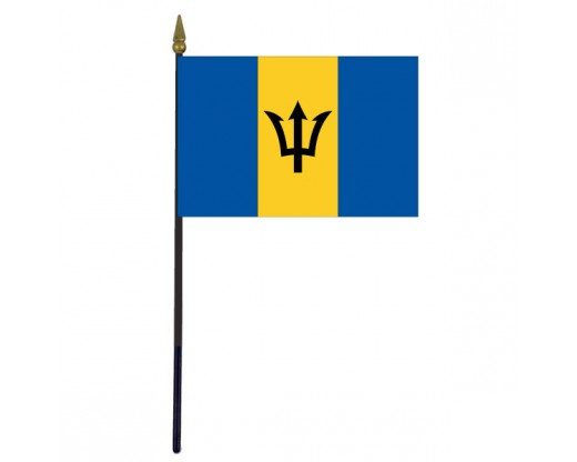 Barbados Stick Flag - 4x6""