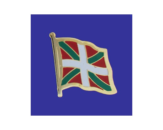 Basque Country Lapel Pin (Single Waving Flag)