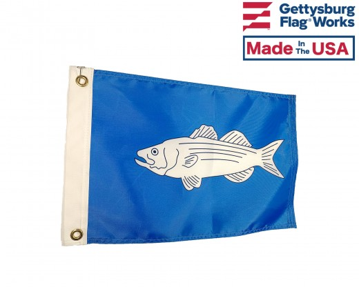 Striped Bass Flag - 12x18""