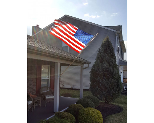 Battle-Tough American flag on a porch