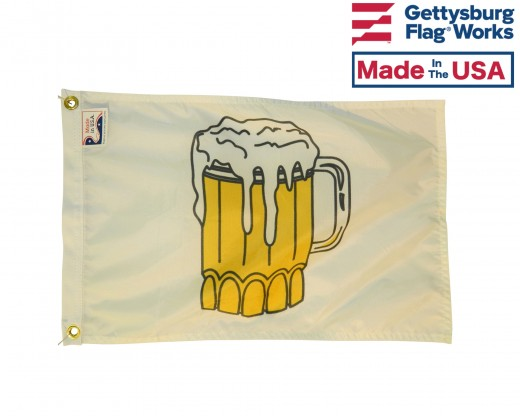 Beer Time Flag - 12x18""