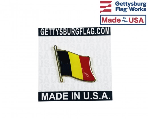 Belgium Lapel Pin (Single Waving Flag)