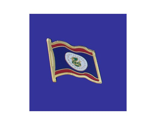 Belize Lapel Pin (Single Waving Flag)