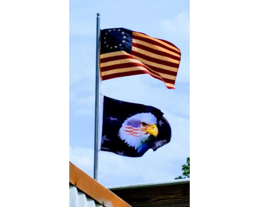 Betsy ross flag and war eagle